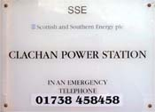 Clachan Power Station sign