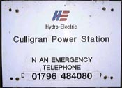 Culligran Power Station sign