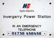 St. Fillans Power Station sign