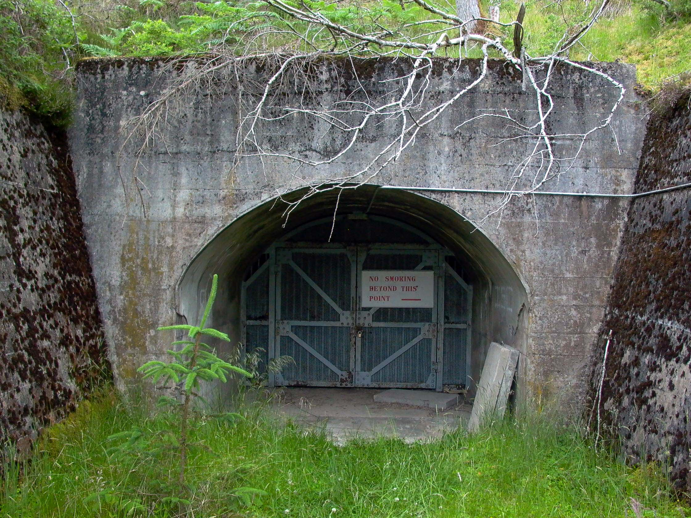 Subterranea Britannica: Sites: Inchindown Fuel Bunker