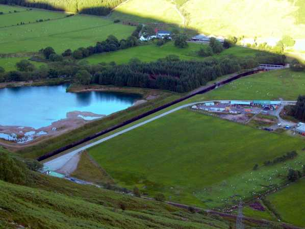 Clachan power station - tailrace