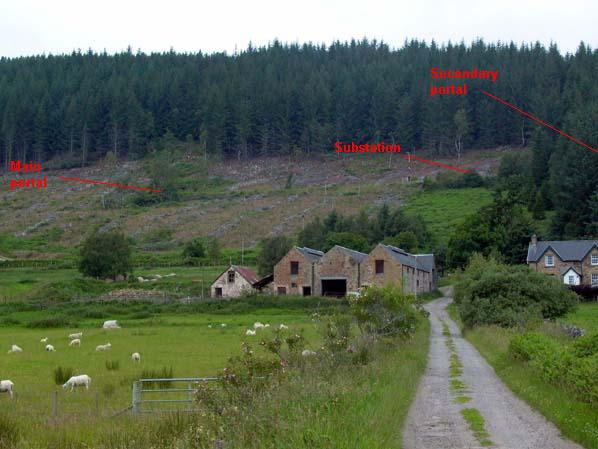 Inchindown - general view of site from farm track