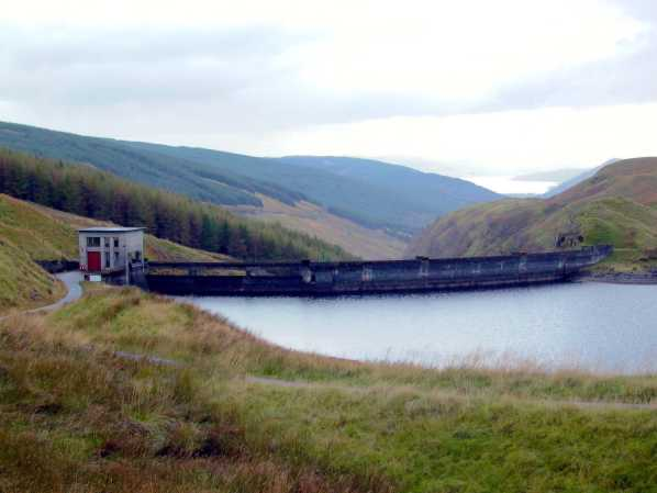 Main dam at Lower Shira, intake structure for Clachan tunnel