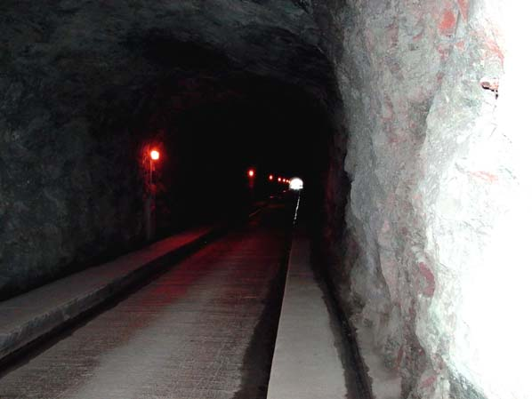 Nant power station - access tunnel